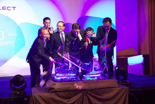 """Ice Breaking"" ceremony signifying the breakthrough of the company's 70 year mark."